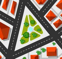 Bovenaanzicht stadsplattegrond vector