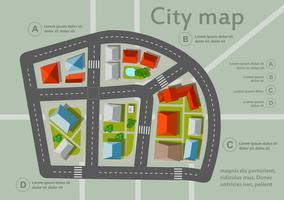Bovenaanzicht van de Urban vector