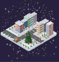 Winter Christmas stadsdeelmodules vector