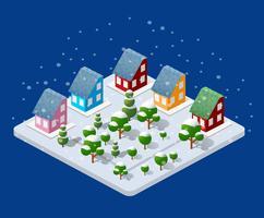 Winter Kerstmis stedelijk vector