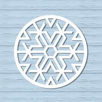 Kerst sneeuwvlok ornament vector