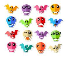 Emoticon expressie pictogrammen vector