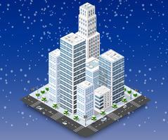 Stad winterlandschap vector