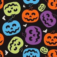 Pompoen Halloween-patroon vector