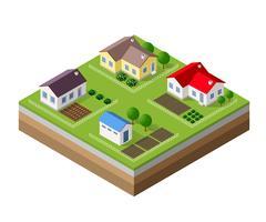 Boerderij set huizen