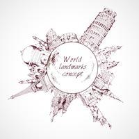 Wereld landmark concept