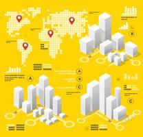 Gele illustratie infographics vector
