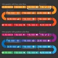 Schone zakelijke infographic proces stroomdiagram vectorillustratie