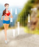 Vrouw met technologie vector