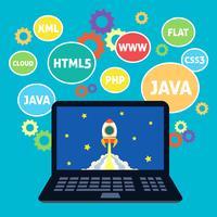 Web design codering vector