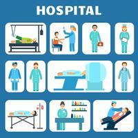 Medische platte pictogrammen instellen vector