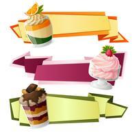 Snoepjes papieren banners vector