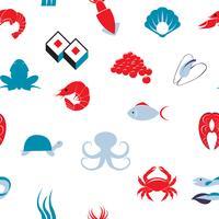 Zee voedsel naadloze patroon