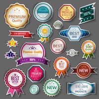 Kleur verkoop stickers instellen vector