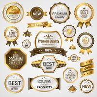 Luxe labels set vector