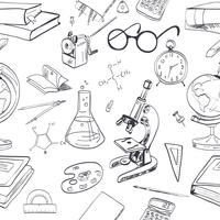 Onderwijs pictogram doodle naadloos vector