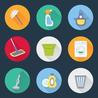 Pictogrammen schoonmaken vector