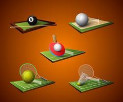 Sport embleem pictogrammen instellen vector