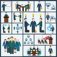 Vergadering pictogrammen instellen vector