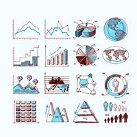 Schets bedrijfsdiagram vector