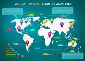 Wereldtransport infographic vector