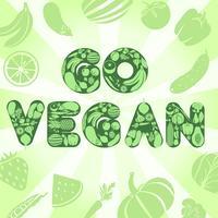 Ga veganistisch poster