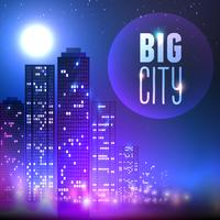 Stad 's nachts vector