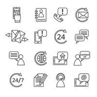 Neem contact met ons op Service-pictogrammen vector