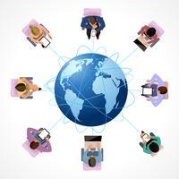 Wereldwijd concept vector