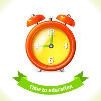 Onderwijs pictogram wekker vector
