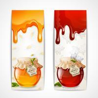 Verticale banners van honing vector