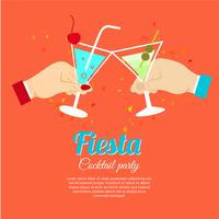Cocktailparty-poster vector