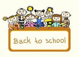Decoratieve terug naar school achtergrond vector