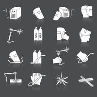 Lasser pictogrammen instellen vector