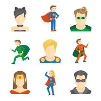 Superheld pictogram plat
