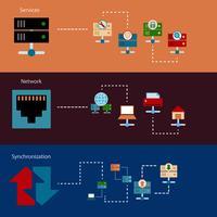 hosting van serverbanners vector