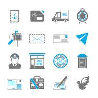 Post dienst pictogrammen vector