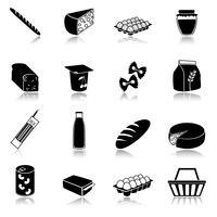 Voedsel pictogrammen instellen vector