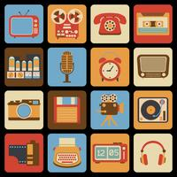 Vintage gadget pictogrammen