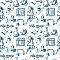 Chemie apparatuur schets naadloos vector