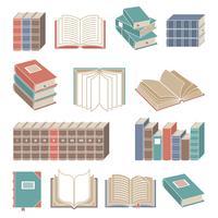 Boekpictogrammen instellen kleur vector