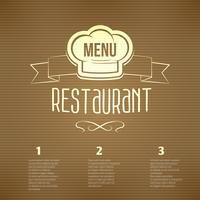 Restaurant menusjabloon vector