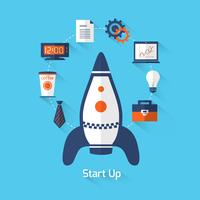 Start illustratie vector