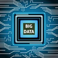 Microchip big data-achtergrond vector