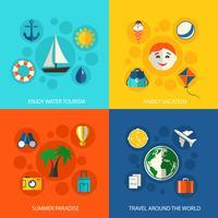 Zomer reizen vakantie concept vector