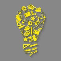 Ontwerper gereedschappen idee concept