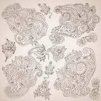 Decoratieve decoratieve elementen instellen vector