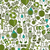 Ecologie naadloos patroon