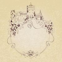Schets kasteel achtergrond vector