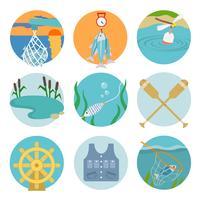 Set van vissen pictogrammen
